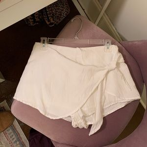 White wrap skort/ skirt